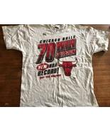Vintage 1996 Chicago Bulls 70 win Season shirt Jordan/Pippen Large Pro P... - $47.50