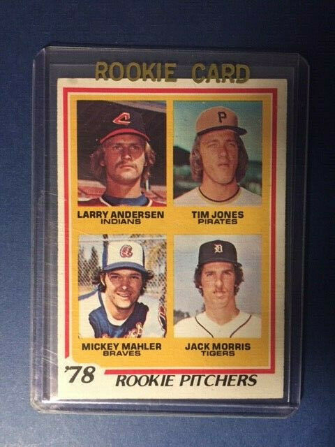 1978 Topps Jack Morris #703 Rookie Ex-Mint Condition (INV2)
