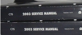 2003 Cadillac CTS CTS-V Service Repair Shop Workshop Manual Set OEM Fact... - $148.45