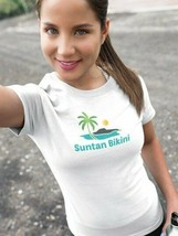 Suntan Bikini Fruit Of The Loom Women's T Shirt Size Med image 2