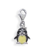Black and Yellow Penguin Charm With Lobster Clasp - $29.98