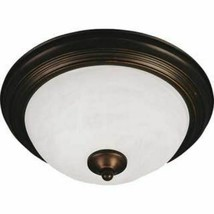 Flush Mount Ceiling Light Iron Indoor Oil Rubbed Bronze Transitional Hom... - $29.69