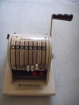 Vintage Paymaster Check Ribbon Writer Series 8000 Coffee Color - $19.95