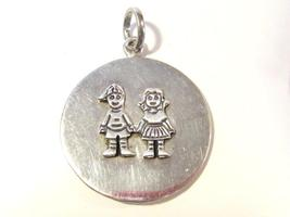 Mexican sterling silver 925 Boy & Girl pendant - $32.00