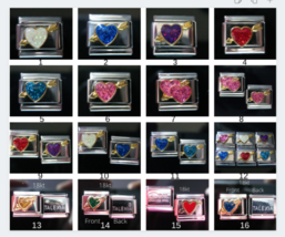 Heart with Arrow Italian Charm 16 choices - fits 9mm Classic Nomination Bracelet - $3.31+