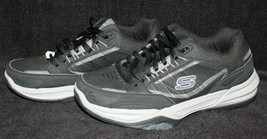 Men's Skechers Black Relaxed Fit Air Cooled Memory Foam Sport Shoes Size 8 image 2