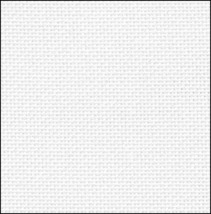 White Silver Opalescent 36ct evenweave 17x19 cross stitch fabric Fabric Flair - $9.90