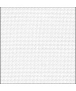 White Silver Opalescent 36ct evenweave 17x19 cross stitch fabric Fabric ... - $9.90