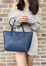 Kate Spade Haven Lane Hani Small Tote Navy Blue Glitter Polka Dots Handbag - $89.99