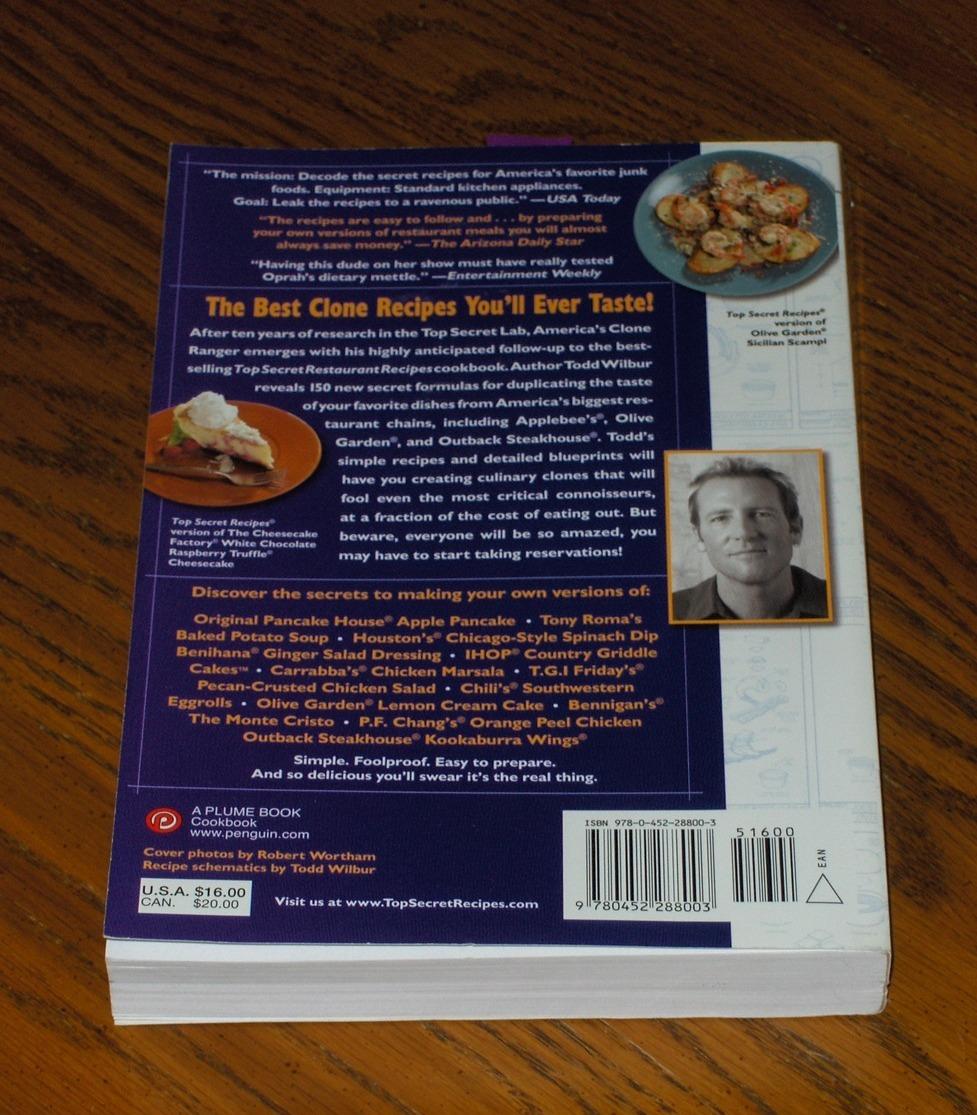 Top Secret Restaurant Recipes 2 - Cookbooks
