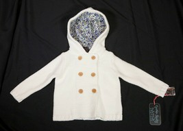 NWT Cynthia Rowley Toddler Girls Ivory Sweater Cardigan with Hood Size 2... - $17.95