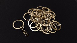 Bulk 50 Stainless Steel Metal Split Keychain Key Ring Chain Making Findi... - $20.00