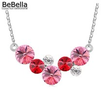 BeBella round bubbles pendant necklace with Crystals from Swarovski fashion crys image 1