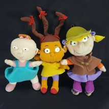 "Rugrats Plush doll Angelica Lil And Susie Mattel 6"" Nickelodeon Lot of 3... - $21.77"
