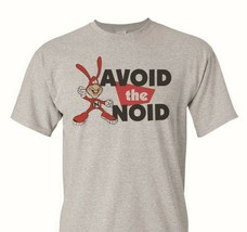 Avoid the Noid T-shirt 80's retro funny novelty cotton blend heather grey tee image 1