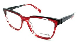 Alain Mikli Rx Eyeglasses Frames A03077 003 53-16-140 Paint Red / Black Italy - $125.44