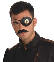 SteamPunk Cosplay Victorian Style Gear Eyepatch, NEW SEALED - $5.48