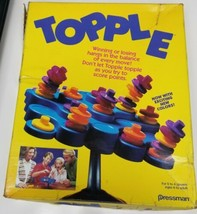 Topple Game by Pressman (Almost Complete Game Missing 1 Disc + Instructi... - $8.59