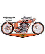 Tangerine Arlen Ness Motorcycle Reproduction Cut Out Metal Sign 11.5x23.5 - $26.73