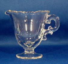 Fostoria Mini Creamer Century Pattern Clear Glass Footed Beaded Edge Nic... - $4.95
