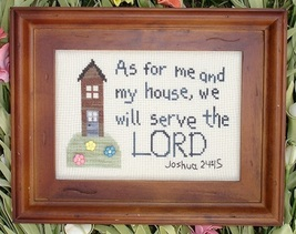 Me And My House MBT001 religious Lord cross stitch chart My Big Toe Designs - $8.00