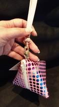 Pyramid Bag/Wristlet/Gift Bag - Pink Hologram/Holographic shiny polka dots image 3
