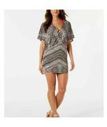 Bar III Women Neon Tribal-Print Ring Tunic Cover-Up Dress Swim Size XS B... - $24.70
