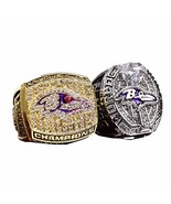 Baltimore Raven Championship Rings Full Set Replica Gift Collection Size... - $109.42