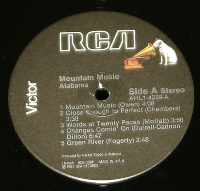"Alabama  ""Mountain Music""   LP"