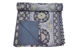 Indian Handmade Queen Cotton Kantha Quilt Throw Blanket Bedspread Suzani... - £45.59 GBP