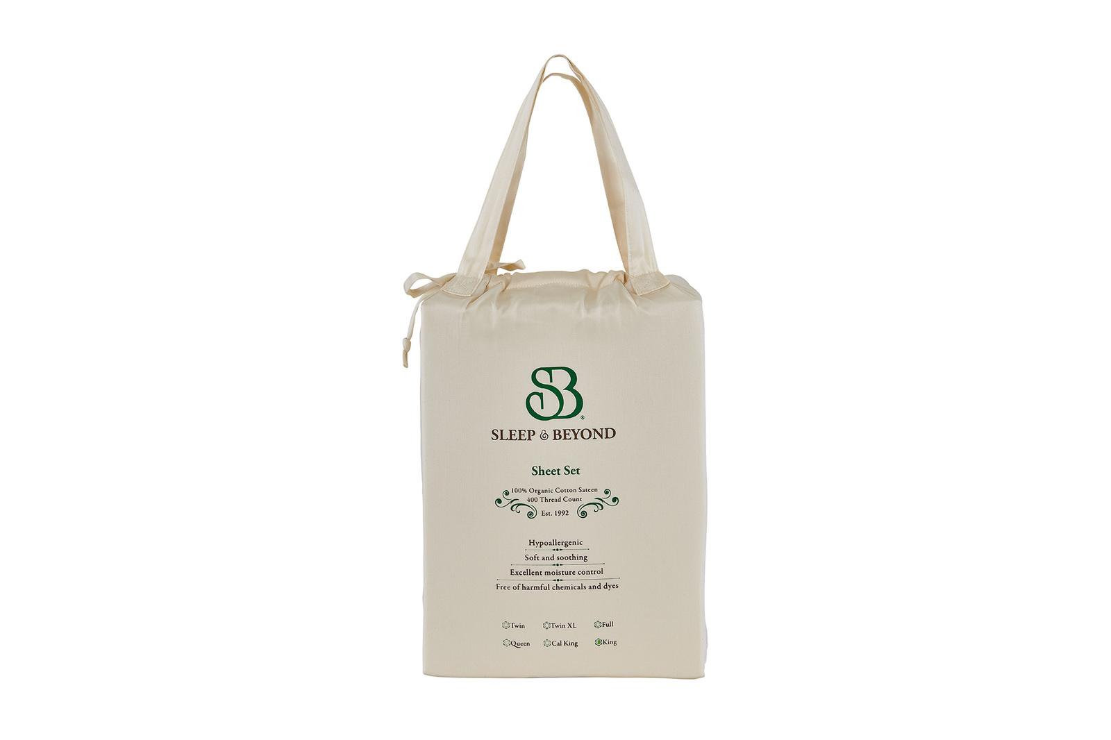 """100% Organic Cotton Sheet Set - Full Up to 18"""""""