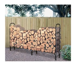 Firewood Log Rack with Fitted Cover 8 Foot Storage Holder Fire Wood Outd... - $51.55