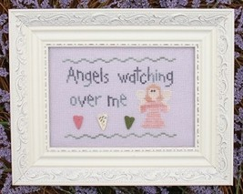 Angels Watching Over Me MBT004 religious cross stitch chart My Big Toe Designs - $8.00