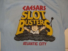 "Vintage ""I'm a Caesar's Slotbuster"" Atlantic City Vacation Soft Blue T S... - $24.74"