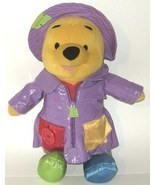 50% off! Talking Winnie Pooh Teaching Plush Doll Raincoat - $115,30 MXN