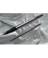 Sheaffer imperial stainless steel fountain and ball pen set USA made - $83.12