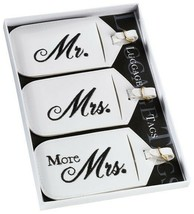 Mr Mrs & More Mrs Luggage Tags Wedding Gift Honeymoon Favors Set of 3 Tr... - $9.25