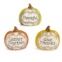 Darice Thanksgiving Pumpkin: 7.48 x 7.28 inches Thankful Give Thanks w - $16.99