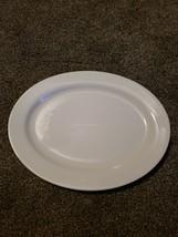 """Fitz & Floyd Gourmet White Oval Serving 16"""" Platter Porcelain Dinnerware - $21.99"""