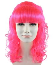 Pin up Girl Neon Pink Wig HW-1289 - $29.99