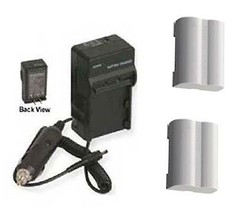 TWO 2 BLM-5 SBLM-5 BLM5 Batteries + Charger for Olympus E-5 DSLR Digital... - $29.65