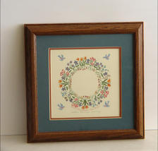 Sr. Karlyn Cauley Signed, Framed, Shaker Calligraphy Wreath Print - $12.90