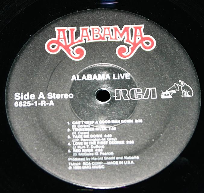 """Alabama """"Live""""   LP"""