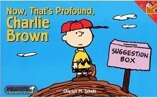 Peanuts Snoopy Now That's Profound Charlie Brown book - OOP