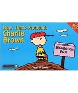 Peanuts Snoopy Now That's Profound Charlie Brown book - OOP - $8.75