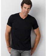 Black 2XL  Extra Large G64V Gildan 4.5 oz SoftStyle V-Neck T-Shirt - $9.25