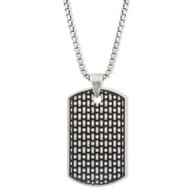 Steve Madden Stainless Steel Textured Dog tag 2... - $33.00