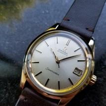 Omega Seamaster Vintage 1970s Gold Capped Swiss 35mm Mens Original Watch LV399 - $2,405.81