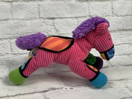 "BRITTO POPPLUSH Pink Corduroy POP ART Frida the HORSE Plush Stuffed Animal 11"" image 4"