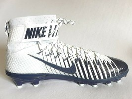 Men's Nike Lunarbeast Football Cleats NIKESKIN Navy/White Size 16 779422... - $24.86